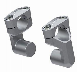 Riser Scam Alongador de Guidão 28mm prata