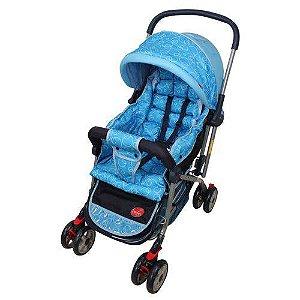 Carrinho De Bebê Alça Reversível Pop Azul Dardara