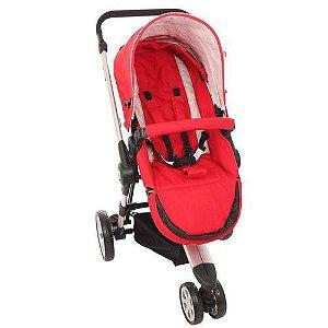 Carrinho De Bebê 3 Rodas Liberty Vermelho - Dardara