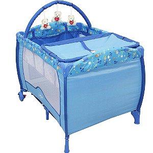 Berço Cercado desmotável - Azul Oceano Baby Style