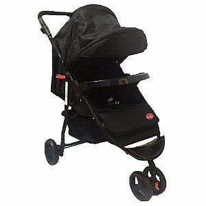 Carrinho de bebe 3 rodas Twister - Preto - Dardara