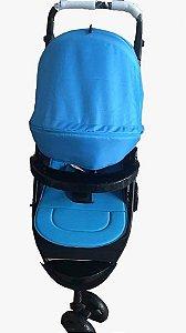 Carrinho de bebe 3 rodas Twister - Azul - Dardara