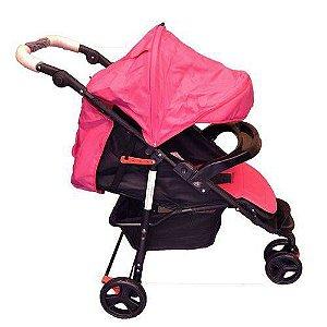 Carrinho de bebe 3 rodas Twister - Rosa - Dardara