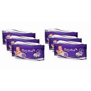 Kit 6 Lenços Umedecidos Baby Bath - 432 Unidades ( 72)