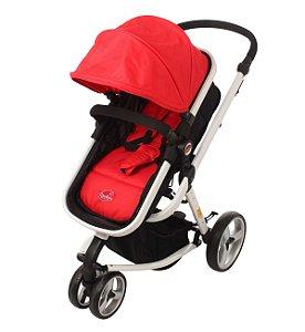 Carrinho de Bebê Attractive Vermelho- Dardara