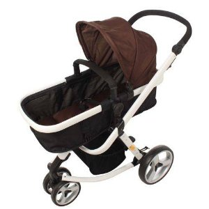 Carrinho de Bebê Attractive Marrom- Dardara