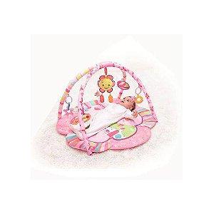 Tapete Infantil De Atividades Rosa Flor