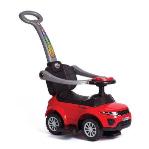 Carrinho Andador Passo a Passo Sport Car C/ haste - Vermelho