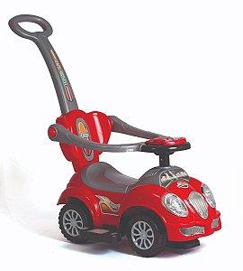 Carrinho Infantil C/ Haste Cute Car -  Fusca Vermelho UniToys