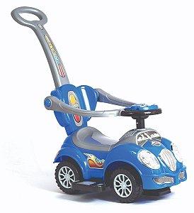 Carrinho Infantil C/ Haste - Cute Car - Fusca Azul UniToys
