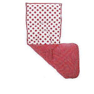 Almofada Para Carrinho Estrela Vermelha -Kababy