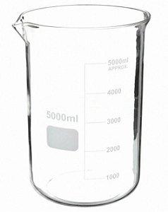Becker graduado de vidro borosilicato 3.3, forma baixa(Griffin), capacidade: 5000ml