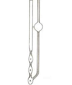 Viscosímetro capilar de vidro boro 3.3, Cannon-Fenske para líquidos opacos com certificado de calibração RBC