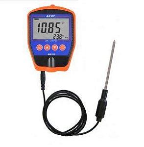 Medidor de pH portátil(sem eletrodo); Faixa -2 a 16.00; AK103