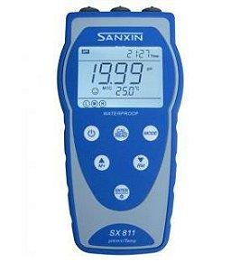 Medidor Multiparâmetro (pH/Cond/OD/Temp); com registro; á prova d'água; Faixa: 2.00 a 19.99; SX811