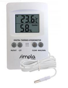 Termo-Higrômetro com Sonda Externa; Faixa de Medição: - 10 à 50°C  - TH02