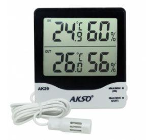 Termo-Higrômetro; Faixa de medição: -10 à 50°C(interno), -50 à 70°C(Externo) - AK29