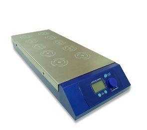 Agitador Magnético Digital Multiposição c/ Aquecimento; Capacidade de Agitação: até 0,4 Litros por posição; 1100 rpm; 120°C