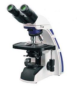Microscópio Binocular Biológico; Ótica Infinita e Contraste de Fase; Zoom até 1000x; Lentes Planacromáticas
