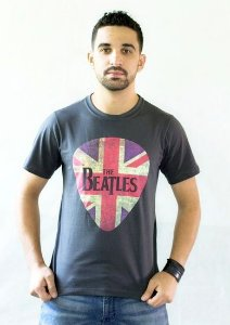 Camiseta Beatles Cinza