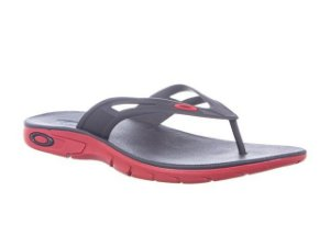 Chinelo Oakley Rest 2.0 Red Line - 10193BR-465
