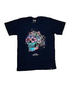 Camiseta Chronic Caveira Floral 2232