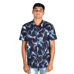 Camisa Lost Eletric Storm Masculina - Azul
