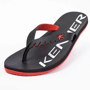 Sandália Chinelo Kenner Red Hok - Preto e Vermelho Original