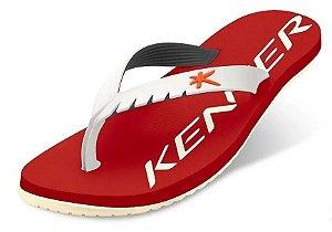 Sándalia Kenner Red Colors - Vermelho E Branco - Original