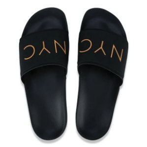 Chinelo New Era Slide NYC Original - Laranja e Preto
