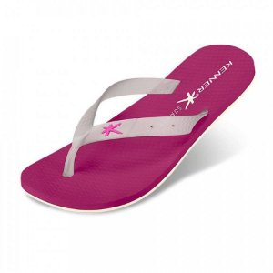 Chinelo Kenner Summer Glass Sunset Rosa e Transparente - HJD-02