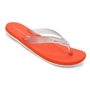Chinelo Kenner Summer Glass Sunset Masculino  Branco e Laranja - HJD-04