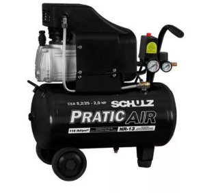 Compressor De Ar 8,2pés 2hp 25 Litros Pratic Air Schulz