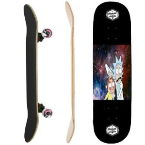 SKATE COMPLETO  INICIANTE MODEL RICK AND MORTY