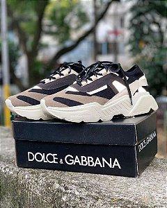 Ténis Dolce&Gabbana Daymaster Beje e Marrom Frete Grátis