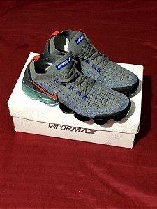 Ténis Nike Vapor Max Cinza e Laranja Frete Grátis