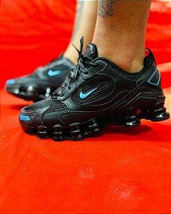 Ténis Nike Shox TL 12 Molas Preto Com Azul Frete Grátis