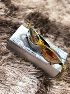 66f58dfb5ab9f Óculos Oakley Juliet 24k lente Dourada Frete Grátis - Outlet ...