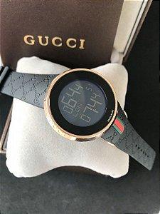 Réplica de Relógio DIgital Gucci Preto Frete Grátis