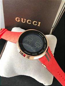 Réplica de Relógio DIgital Gucci Vermelho Frete Grátis