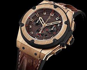 82050f825c7 Réplica de Relógio Hublot King Power Chocolate Frete Grátis - Outlet ...