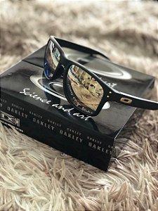 40b45db7cf191 Óculos Oakley Holbrook Lente Dourada Armação Preta Frete Grátis