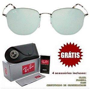 Óculos Rayban Hexagonal lente Prata Espelhada Frete Grátis