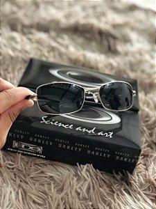 Óculos Oakley Square Wire 2.0 Lente Preta Armação Prata Frete Grátis