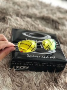 Óculos Oakley Square Wire 2.0 Lente Dourada Armação Prata Frete Grátis