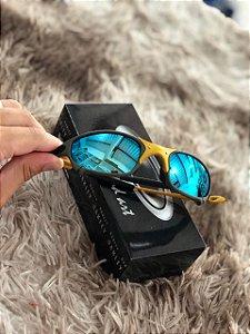 Óculos Oakley Juliet Lente Azul Armação Chumbo Escuro Frete Grátis