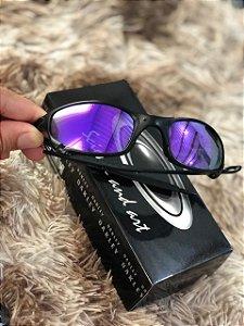 Óculos Oakley Juliet Lente Roxa Armação Preta Frete Grátis