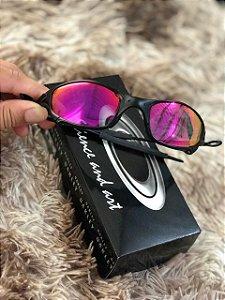 Óculos Oakley Juliet Lente Rosa Armação Preta Frete Grátis