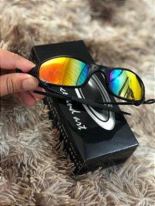 Óculos Oakley Juliet Lente Arco-iris Armação Preta Frete Grátis