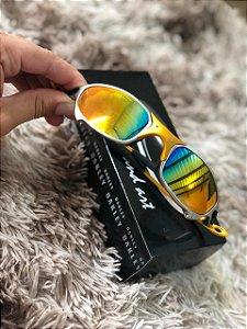 Óculos Oakley Juliet 24k Lente Arco-Iris Frete Grátis